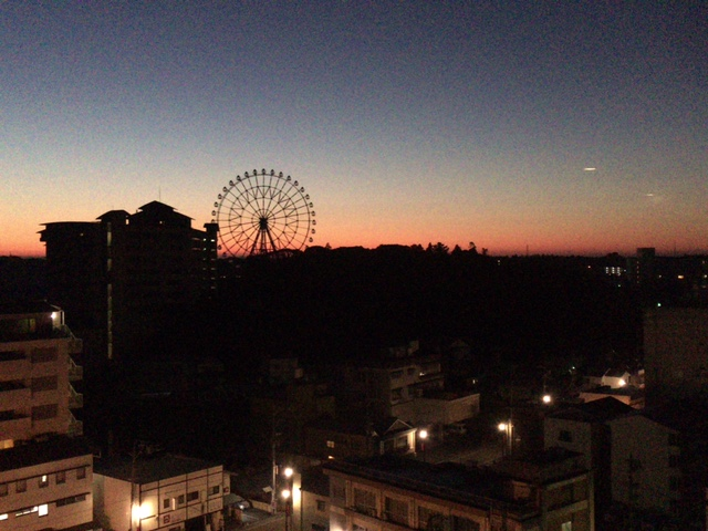 ホテルからの眺め 朝焼け