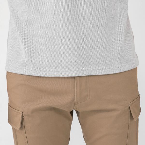 G9118 長袖ポロシャツ裾