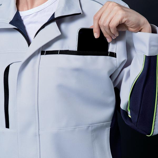 作業服の機能性 フラップレスポケット