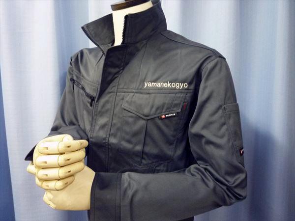【クーガー×銀】BURTLE作業服の刺繍加工