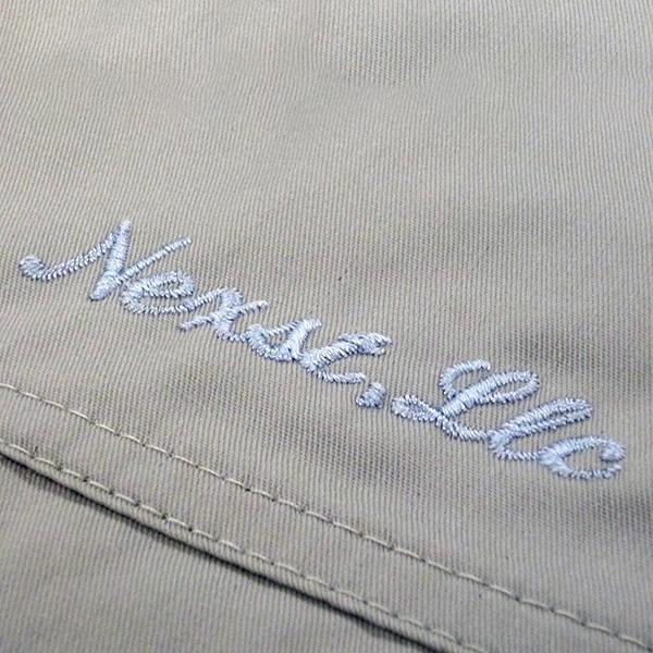 【アイボリー×銀】自重堂長袖ブルゾンの刺繍加工