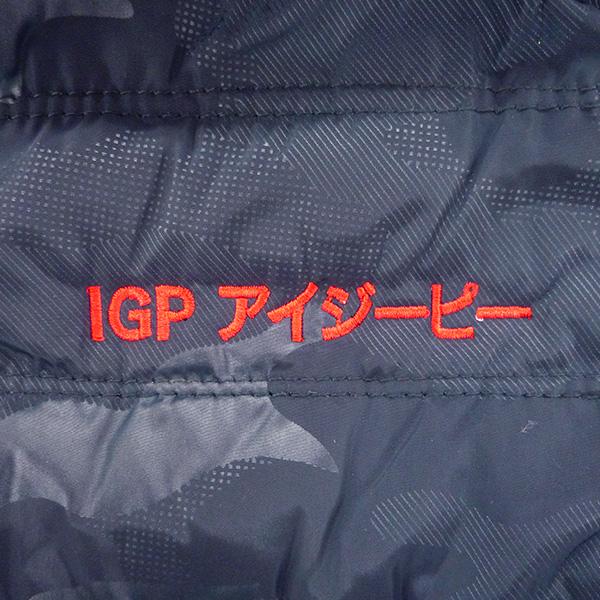 【チャコールカモフラ×赤】GLADIATOR 防寒ベストの刺繍加工