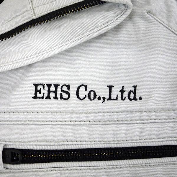 【シルバーグレー×黒】TS DESIGN 長袖ジャケットの刺繍加工
