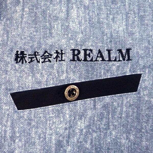 【インディゴ×黒】BURTLE 半袖ポロシャツの刺繍加工